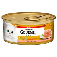 Purina Gourmet Gold Melting Heart Tins for Cats (Salmon) big image