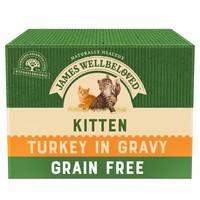 James Wellbeloved Grain Free Kitten Wet Cat Food Pouches (Turkey) big image