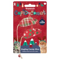 Rosewood Cupid & Comet Jingling Catnip Mice for Cats (Pack of 2) big image