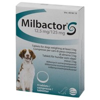 Milbactor 12.5mg/125mg Tablets for Dogs (4 Tablets) big image