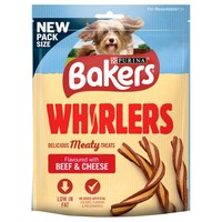 Bakers Whirlers Dog Treats 130g (Beef and Cheese) big image