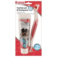 Beaphar Toothbrush & Toothpaste for Dogs big image