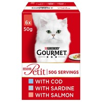 Purina Gourmet Mon Petit Wet Cat Food (Cod, Sardine & Salmon) big image