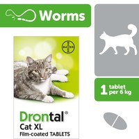 Drontal Cat XL Worming Tablet Packs big image