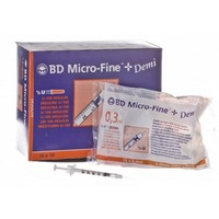 BD Microfine + Demi 0.3ml U100 Insulin Syringes (Box of 100) big image