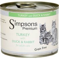 Simpsons Premium Adult Wet Cat Food (Turkey with Duck & Rabbit) big image