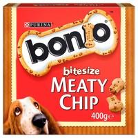 Nestle Purina Bonio Bitesize Meaty Chip Dog Biscuits 400g big image