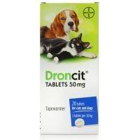 Droncit Tablet for Cat Dog Tapeworm (OUTER 20 TABLETS) big image