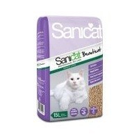 Sanicat Beauticat Wood Pellets Cat Litter 15L big image