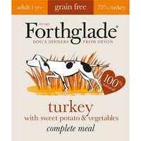 Forthglade Complete Meal Grain Free Dog Food (Turkey with Sweet Potato & Veg) big image