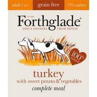 Forthglade Complete Meal Grain Free Dog Food (Turkey with Sweet Potato & Veg) big image