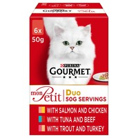 Purina Gourmet Mon Petit Duo Wet Cat Food (Fish Selection) big image