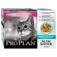 Purina Pro Plan NutriSavour Delicate Adult Cat Wet Food Pouches (Ocean Fish) big image