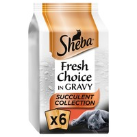 Sheba Fresh Choice Adult Wet Cat Food Pouches in Gravy (Succulent Collection) big image