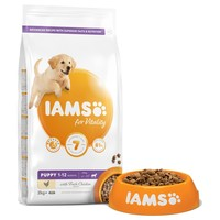 Iams for Vitality Large Breed Puppy Food (Fresh Chicken) 12kg big image