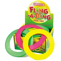 Classic Fling 'A' Ring Dog Toy 8.5