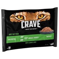 Crave Adult Wet Cat Food Pate (Lamb & Beef) big image