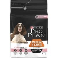 Purina Pro Plan OptiDerma Sensitive Skin Medium & Large 7+ Adult Dog Food (Salmon) 14kg big image