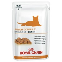 Royal Canin Vet Care Nutrition Senior Consult Stage 2 Pouches for Cats big image
