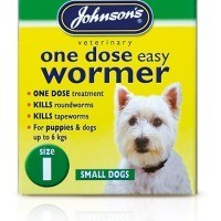 Johnson's One Dose Easy Wormer for Small Dogs Size 1 big image
