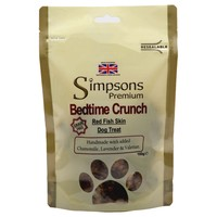 Simpsons Premium Bedtime Crunch Red Fish Skin Dog Treats 100g big image