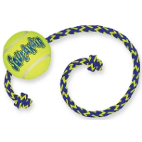 Air Kong Squeaker Tennis Ball with Rope - Medium big image