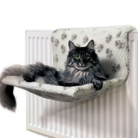 Danish Design Kumfy Kradle Radiator Cat Bed (Paw Prints) big image
