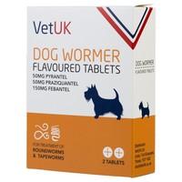 VetUK Dog Wormer Flavoured Tablets big image