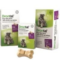Drontal Tasty Bone Tablet Packs for Dogs big image