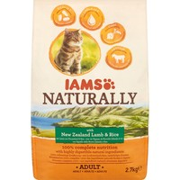 Iams Naturally with New Zealand Lamb & Rice Adult Cat Food 2.7kg big image