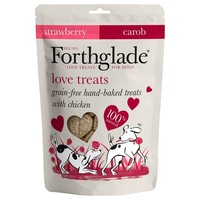 Forthglade Grain Free Love Treats for Dogs (Chicken, Strawberry & Carob) 150g big image