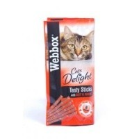 Webbox Cat Delight Treat Sticks - Beef & Rabbit big image