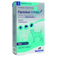 FiproClear Combo Spot-On Solution for Medium Dogs big image