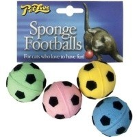 Pet Love Sponge Football Cat Toy big image