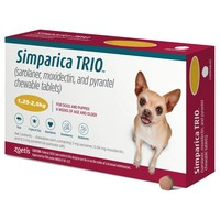 Simparica Trio Chewable Tablets for Dogs (1.25 - 2.5kg) big image