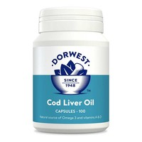Dorwest Cod Liver Oil Capsules for Dogs and Cats big image
