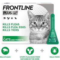 FRONTLINE Plus Flea and Tick Treatment for Cats and Ferrets big image