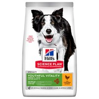 Hills Science Plan Youthful Vitality Mature 7+ Medium Breed Dry Dog Food (Chicken) 14kg big image