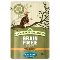 James Wellbeloved Grain Free Pouches for Kittens (Turkey) big image