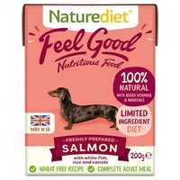 Naturediet Feel Good Wet Food for Adult Dogs (Salmon) big image