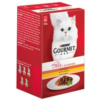 Purina Gourmet Mon Petit Wet Cat Food Pouches (Duck, Chicken & Turkey) big image
