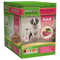 Natures Menu Adult Dog Food 8 x 300g Pouches (Beef with Tripe) big image
