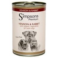 Simpsons Premium Adult Wet Dog Food (Venison & Rabbit) big image