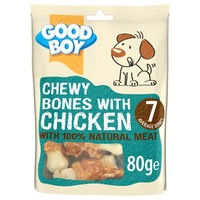 Good Boy Pawsley & Co Chewy Bones with Chicken 80g big image