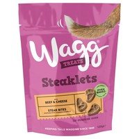 Wagg Steaklets Treats for Dogs (Beef and Cheese) 125g big image