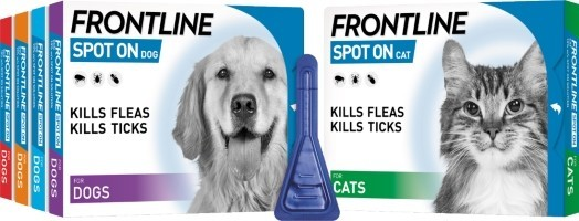 Frontline - Use monthly to kill fleas and ticks