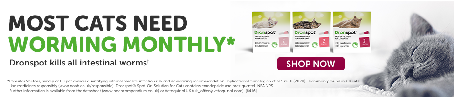 20% off Dronspot Spot-On Wormer for Cats