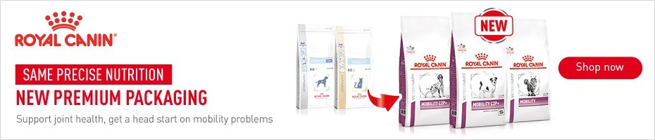 Same precise nutrition, new premium packaging - Royal Canin Mobility