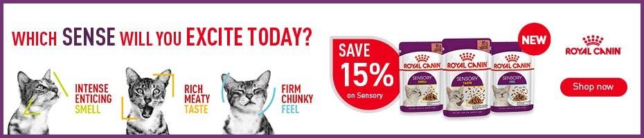 15% off NEW Royal Canin Sensory Cat Food